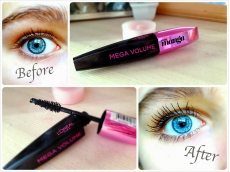 Zoom στο LOREAL miss manga MEGA VOLUME BLACK