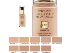 Zoom στο MAX FACTOR FACEFINITY ALL DAY FLAWLESS 3 IN 1 FOUNDATION SPF 20 NATURAL No 50  30ml (NEW EDITION)