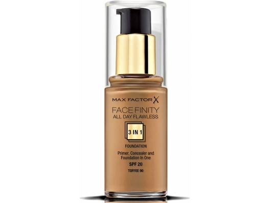 Zoom στο MAX FACTOR FACEFINITY ALL DAY FLAWLESS 3 IN 1 FOUNDATION SPF 20 TOFFE No 90 30ml