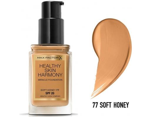 Zoom στο MAX FACTOR HEALTHY SKIN HARMONY MIRACLE FOUNDATION SPF20 77 SOFT HONEY