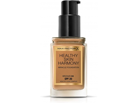 Zoom στο MAX FACTOR HEALTHY SKIN HARMONY MIRACLE FOUNDATION SPF20 80 BRONZE