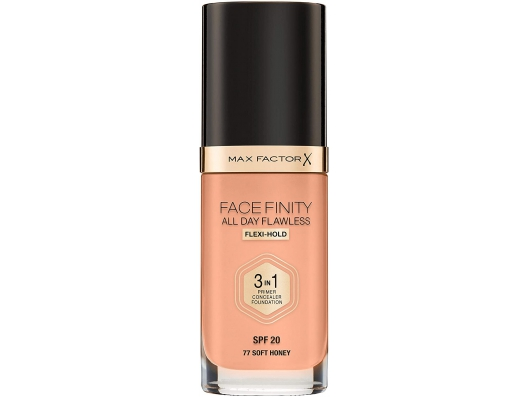 Zoom στο MAX FACTOR FACEFINITY ALL DAY FLAWLESS 3 IN 1 FOUNDATION SPF 20 SOFT HONEY No 77 30ml (NEW EDITION)