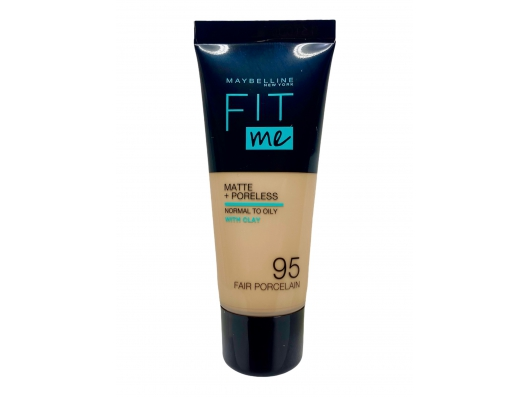 Zoom στο MAYBELLINE FIT me MATTE + PORELESS NORMAL TO OILY WITH CLAY 95 FAIR PORCELAIN 30ml