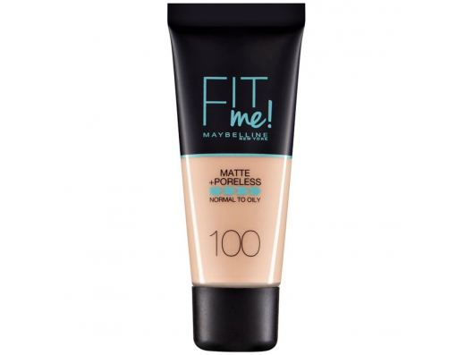 Zoom στο MAYBELLINE FIT me MATTE + PORELESS NORMAL TO OILY WITH CLAY 100 WARM IVORY 30ml