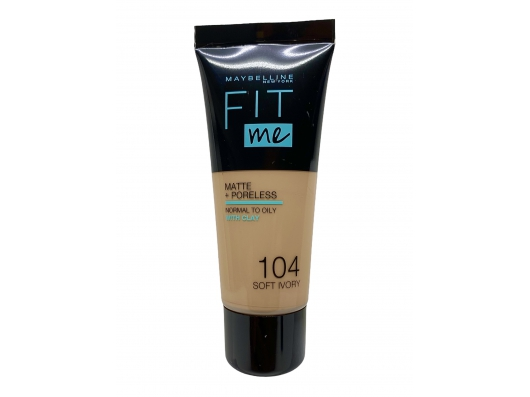 Zoom στο MAYBELLINE FIT me MATTE + PORELESS NORMAL TO OILY WITH CLAY 104 SOFT IVORY 30ml