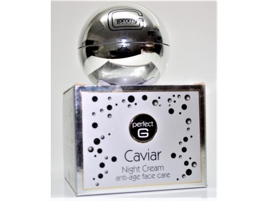 Zoom στο TOMMY G Caviar Night Cream anti-age 50ml.